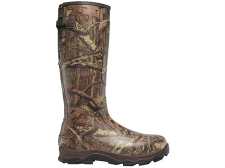 "LaCrosse 4XBurly 18"" Waterproof 800 Gram Insulated Hunting Boots Rubber Clad Neoprene Mossy Oak Break-Up Infinity Camo Men's 14"