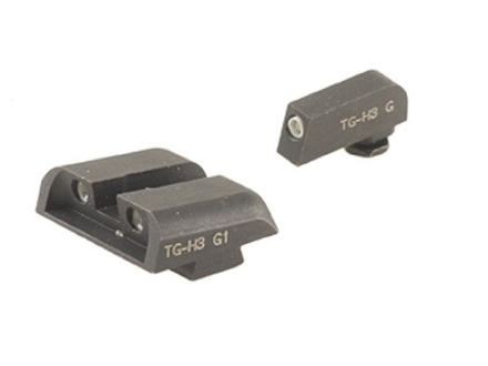 TRUGLO Brite-Site Tritium Sight Set Glock 17, 17L, 19, 22, 23, 24, 26, 27, 33, 34, 35, 38, 39 Steel Tritium Green