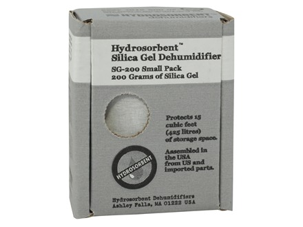 Hydrosorbent Silica Gel Desiccant Dehumidifier 200 Gram (Protects 15 Cubic Feet) Box