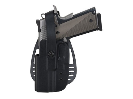 Uncle Mike&#39;s Paddle Holster with Thumb Break Left Hand Beretta 92, 96 (Except Brigadier, Elite) Kydex Black