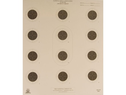 NRA Official Air Rifle Target AR-5/10 10 Meter Air Rifle Paper Package of 100