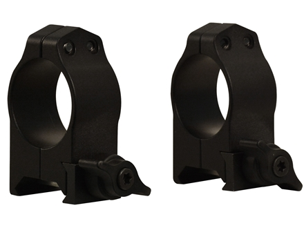 Tactical Solutions 1&quot; Tru-Tac Quick-Release Weaver-Style Rings Matte Medium