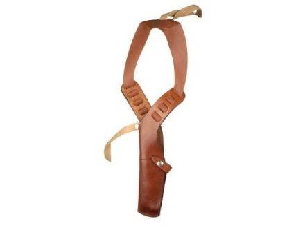 "Bianchi X15 Shoulder Holster Rig Right Hand Colt, Ruger Single Action, S&W K, L, N-Frame 6"" to 6.5"" Barrel Leather Lined Leather Tan"