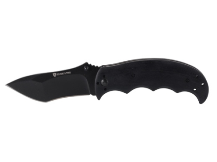 "Browning Black Label Pandemonium Folding Tactical Knife 3.5"" Recurve 440 Stainless Steel Black Oxide Coated Blade G-10 Handle Black"