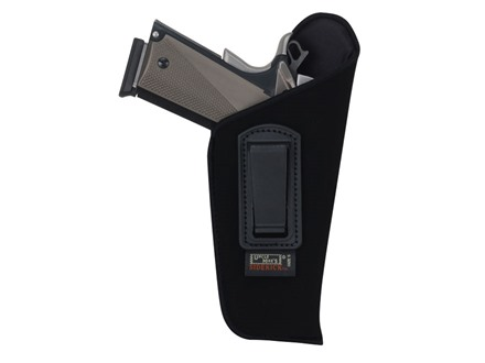 Uncle Mike&#39;s Open Style Inside the Waistband Holster Right Hand Large Frame Semi-Automatic 4-1/2 to 5&quot; Barrel Ultra-Thin 4-Layer Laminate  Black