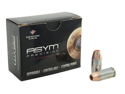 ASYM Precision Solid Defense X Ammunition 45 ACP +P 185 Grain Barnes TAC-XP Hollow Point Box of 20