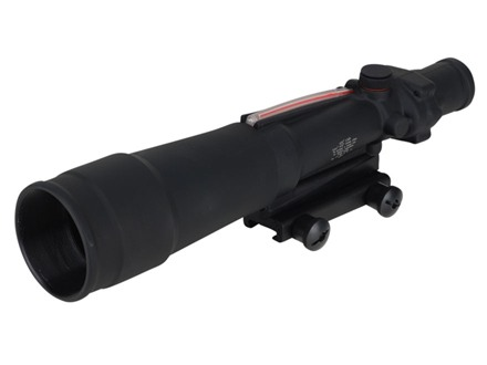 Trijicon ACOG TA55 BAC Rifle Scope 5.5x 50mm Dual-Illuminated Red Chevron 308 Winchester Reticle with TA51 Flattop Mount