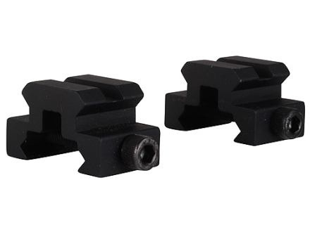 "Remington Picatinny-Style Mini Riser Mount 3/4"" Length Aluminum Black Package of 2"