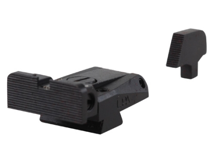 LPA SPR Target Sight Set 1911 Government with Wide Tenon Front Sight Steel Blue