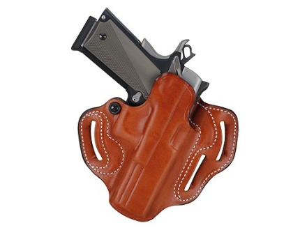 DeSantis Speed Scabbard Belt Holster Left Hand Glock 29. 30, 39 Leather Tan