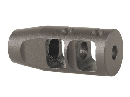 "JP Enterprises Bennie Cooley TactiCal Muzzle Brake 223 Caliber 1/2""-28 Thread .750"" Outside Diameter Steel Matte"
