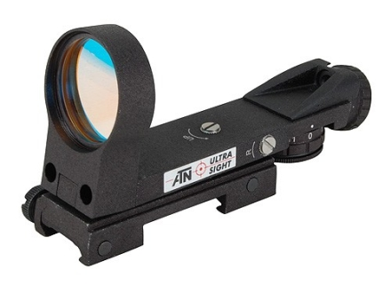 ATN Ultra Reflex Red Dot Sight 33mm Heads Up Display 4-Pattern Reticle (2 MOA Dot, Crosshair with 6 MOA Dot, Open Crosshair with 6 MOA Dot, 50 MOA Circle with 6 MOA Dot) Matte