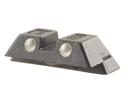 Glock Rear Sight 6.5mm .256&quot; Height Steel Black Tritium