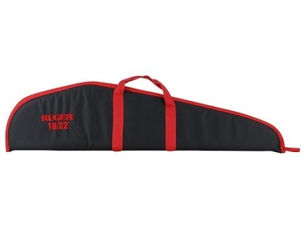 Ruger Embroidered Scoped Rifle Gun Case 40&quot; Nylon Black with Red Trim