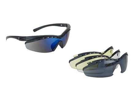 Peltor Arsenal Tac Pac Shooting Glasses Clear, Amber, Mirror Blue and Gray Lenses