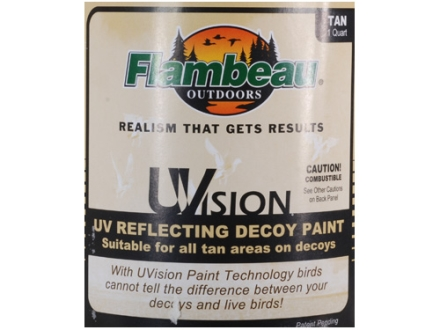 Flambeau Uvision Decoy Paint Quart Tan