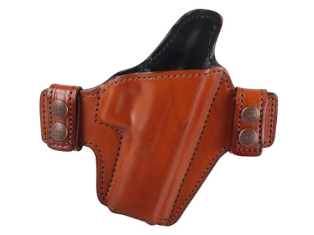 Bianchi Allusion Series 125 Consent Outside the Waistband Holster Right Hand Glock 17, 22, 31 Leather Tan