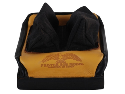 Protektor Custom Bumble Bee Dr Rabbit Ear Rear Shooting Rest Bag Nylon and Leather Tan Unfilled