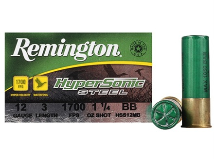 Remington HyperSonic Ammunition 12 Gauge 3&quot; 1-1/4 oz BB Non-Toxic Shot