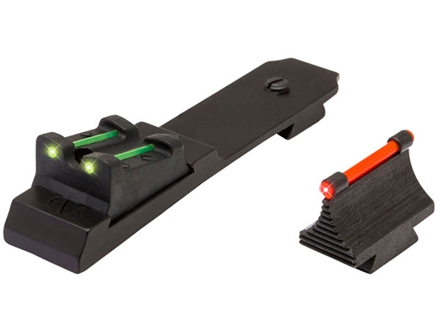 TRUGLO Lever Action Sight Set Winchester 94 Rifle with Ramped Front Sight (Except Carbine), Henry Golden Boy 22 LR Steel Fiber Optic Green
