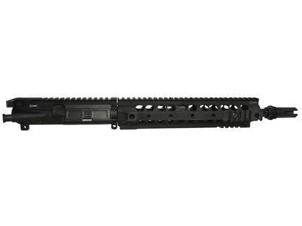 "Advanced Armament Co (AAC) AR-15 Pistol A3 Flat-Top Upper Assembly 300 AAC Blackout (7.62x35mm) 1 in 7"" Twist 12.5"" Barrel with KAC URX II Free Float Quad Rail Handguard, Blackout Flash Hider"