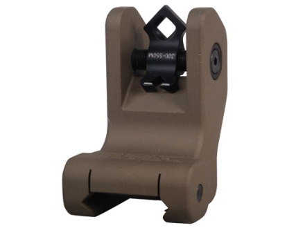 Troy Industries Rear Fixed Battle Sight Di-Optic Aperture (DOA) AR-15 Aluminum Flat Dark Earth