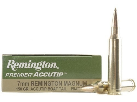Remington Premier Ammunition 7mm Remington Magnum 150 Grain AccuTip Boat Tail Box of 20