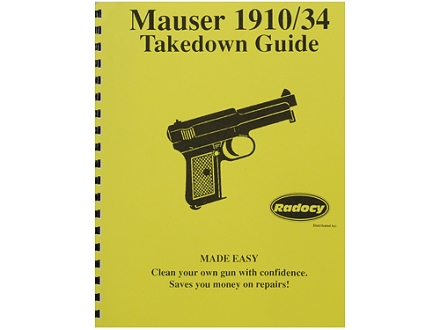Radocy Takedown Guide &quot;Mauser 1910/34&quot;