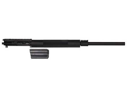 "Olympic AR-15 A3 Flat-Top Upper Assembly 223 Winchester Super Short Magnum (WSSM) 1 in 14"" Twist 24"" Bull Barrel Stainless Steel Black with Free Float Handguard, 4-Round Magazine"