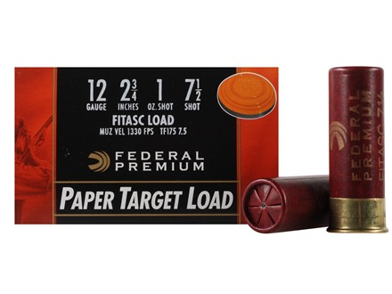 Federal Premium Gold Medal Paper Ammunition 12 Gauge 2-3/4&quot; 1 oz #7-1/2 Shot Box of 25