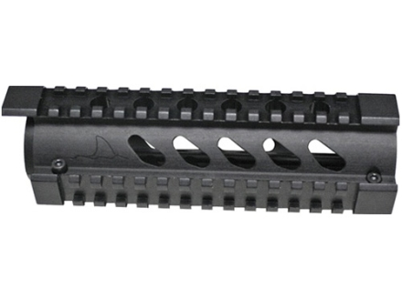 Mako 2-Piece Handguard Quad Rail AR-15 Carbine Aluminum Matte with Black Rail Covers