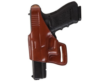 Bianchi 75 Venom Belt Holster Left Hand Glock 17, 19, 22, 23, 26, 27, 34, 35 Leather Tan