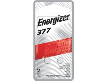 Energizer Battery 377 Silver Oxide Pack of 2