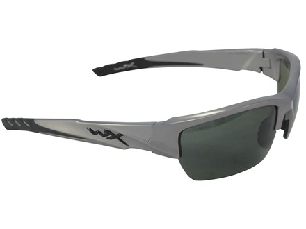 Wiley X WX Valor Polarized Sunglasses Smoke Green Lens