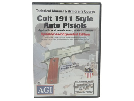 American Gunsmithing Institute (AGI) Technical Manual &amp; Armorer&#39;s Course Video &quot;Colt 1911 .45 Auto&quot; DVD