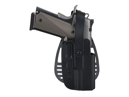 Uncle Mike&#39;s Paddle Holster with Thumb Break Right Hand Glock 26, 27, 33 Kydex Black