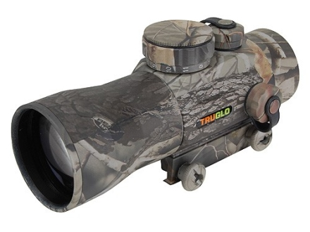 TRUGLO Red Dot Sight 30mm Tube 2x 2.5 MOA Dot with Integral Weaver-Style Base Realtree APG Camo