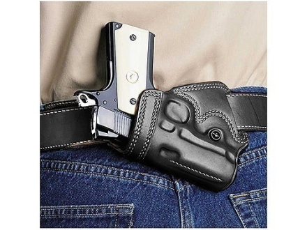 Galco Small Of Back Holster Left Hand Springfield EMP Leather Black