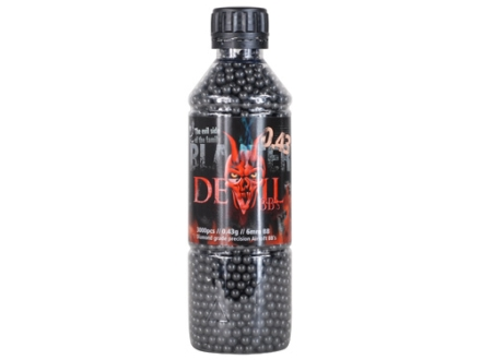 Blaster Devil Airsoft BBs 6mm .43 Gram Black Bottle of 3000
