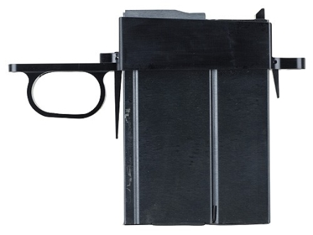 Wyatt's Outdoors Trigger Guard and Detachable Magazine Assembly Remington 700 BDL Long Action 300 Ultra Mag, 338 Lapua 8-Round Aluminum Black