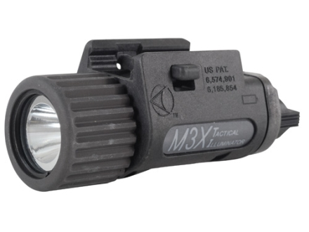 Insight Tech Gear M3X  Tactical Illuminator Flashlight LED with Batteries (2 CR123) 1913 Picatinny Rail Fit Polymer