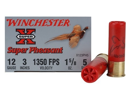 "Winchester Super-X Pheasant Ammunition 12 Gauge 3"" 1-5/8 oz #5 Shot"