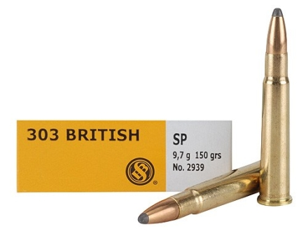 Sellier & Bellot Ammunition 303 British 150 Grain Soft Point Box of 20