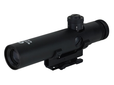 Barska M16 Rifle Scope 4x 20mm 30-30 Reticle Matte with Integral AR-15 Handle Mount Matte