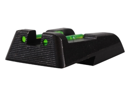 HIVIZ Rear Sight HK HK45, HK45C, HK-P30, HK-P30L, Steel Fiber Optic Green