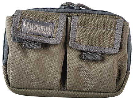 Maxpedition Hook and Loop Double Pocket Insert Nylon Khaki and Foliage Green