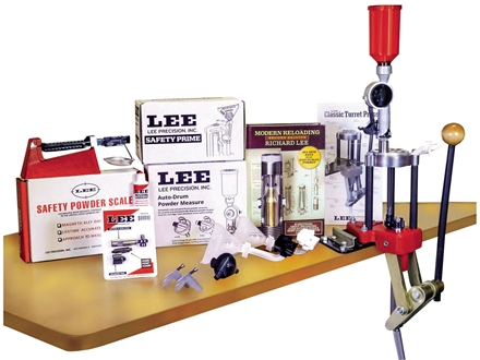 Lee 4 Hole Turret Press with Auto Index Deluxe Kit