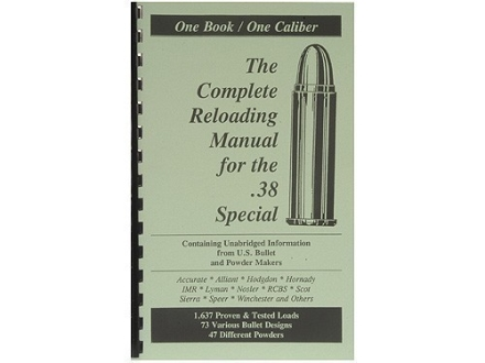 Loadbooks USA &quot;38 Special&quot; Reloading Manual