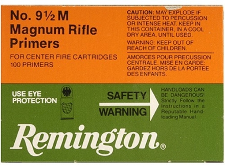 Remington Large Rifle Magnum Primers #9-1/2M Case of 5000 (5 Boxes of 1000)