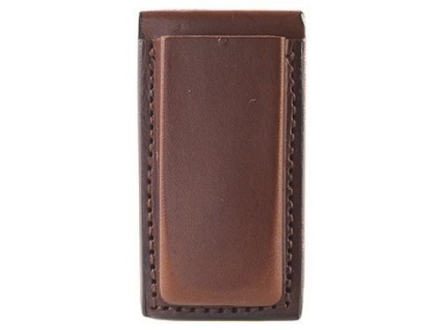 Bianchi 20A Open Magazine Pouch Browning Hi-Power, Ruger P89, P91, Sig Sauer P226, P228, P229 Leather Tan